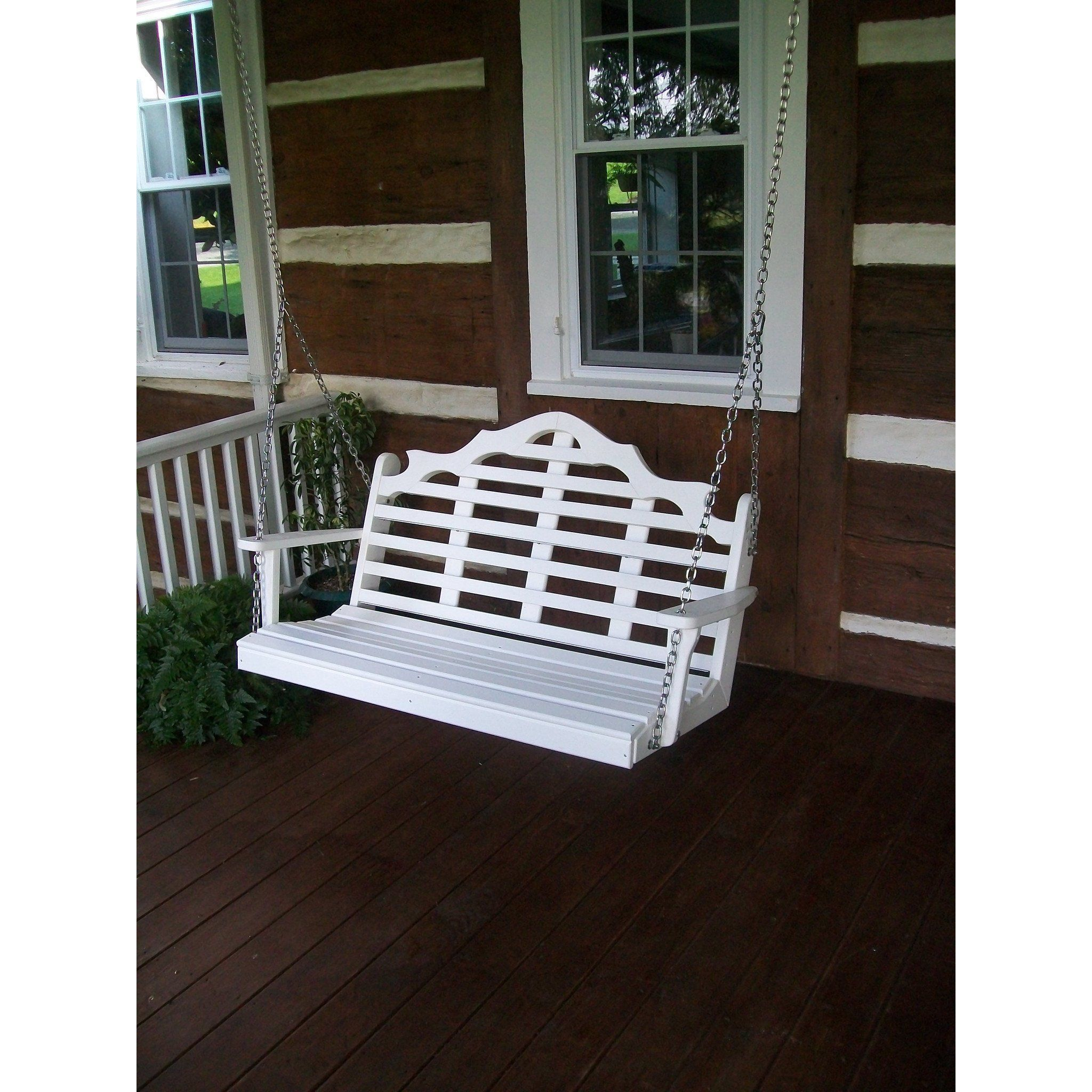 Aul furniture company marlboro recycled plastic ft porch swing
