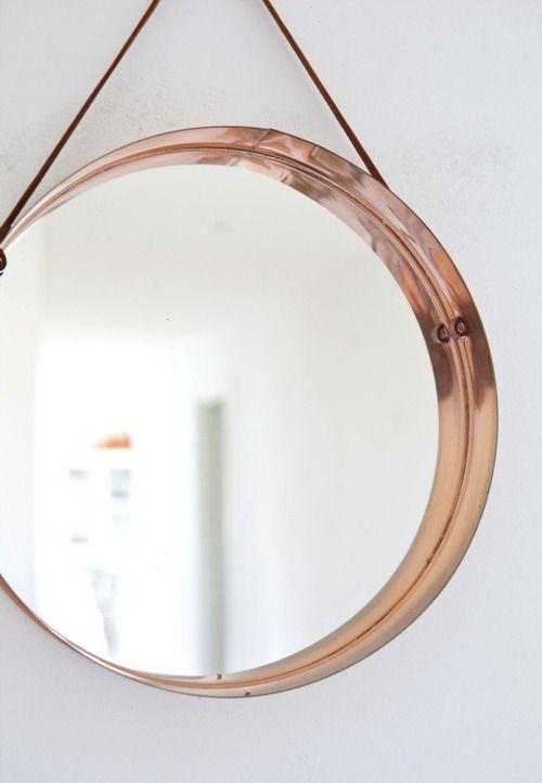 Via Folkabout Copper Mirror Runde Spiegel Kupfer Innendekoration