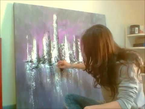 Spachtel Acrylmalerei Abstract Art Painting How To Abstract