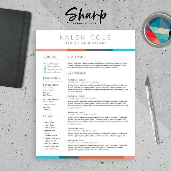 Modern Resume Templates Modern Resume Template For Wordsharpresumefoundry On