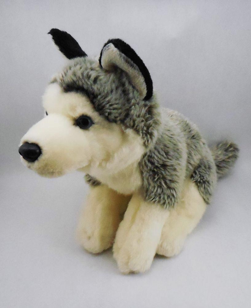 Toys R Us Siberian Husky Dog Plush Stuffed Animal Puppy Wolf