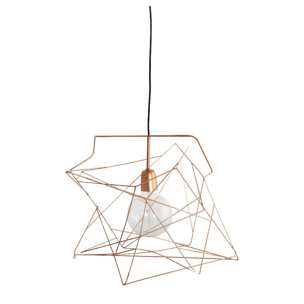 Extra Large Wire Frame Light Shade in Copper | Home Candy – £60 ...