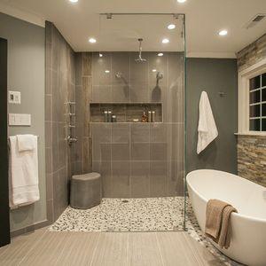 Image Result For Modern Rustic Spa Bathroom
