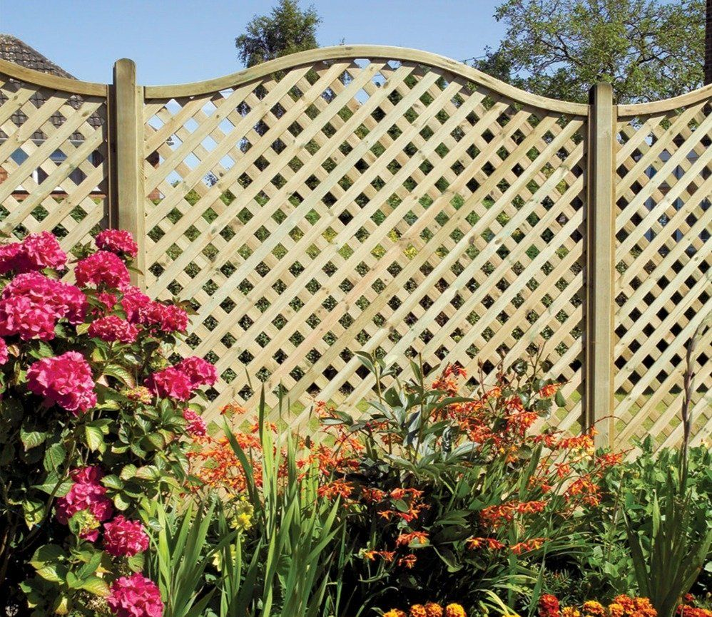 Grange Elite St Meloir 6ft x 6ft Lattice Trellis | Fences, Garden ...