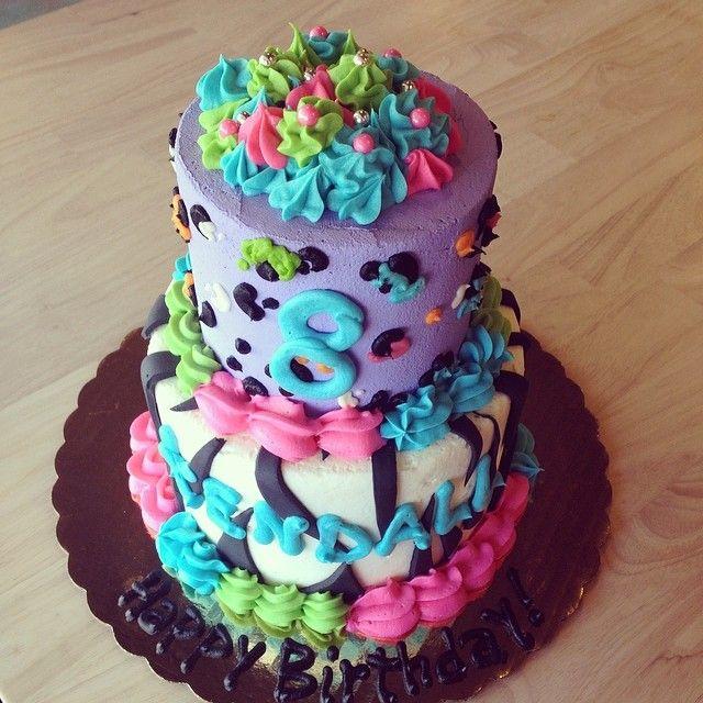 Lisa Frank Cake by 2tarts Bakery / New Braunfels, Texas / www.2tarts.com