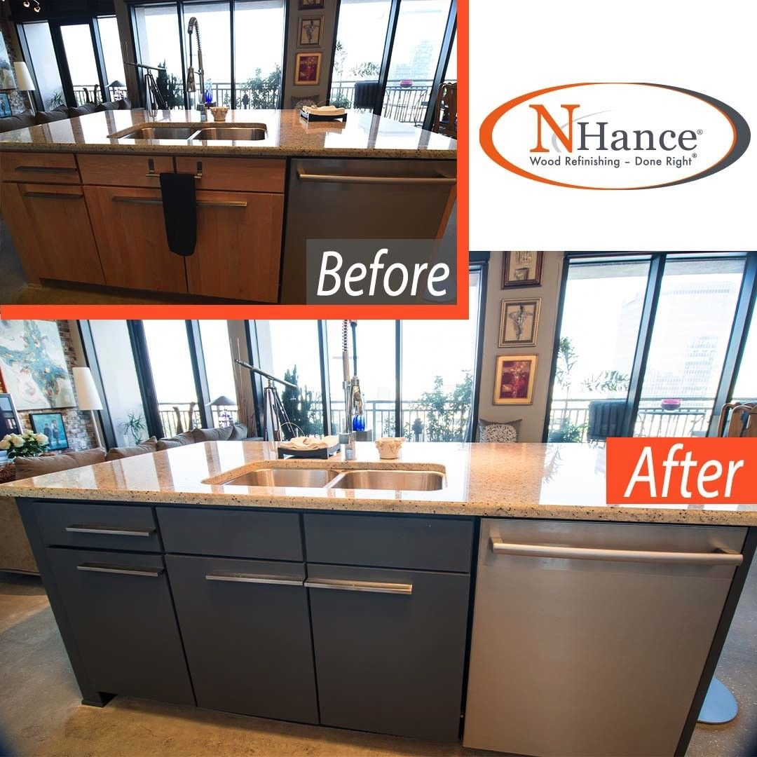Same Cabinets Brand New Look Contact N Hance To Give Your Kitchen A New Look Linkinbio N In 2020 Refinishing Cabinets Kitchen Renovation Kitchen Upgrades
