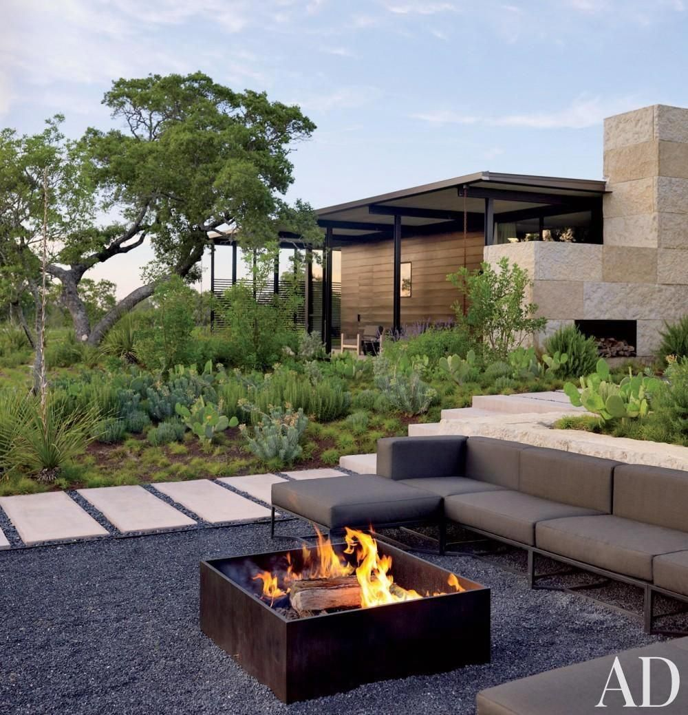Whether oversize or L-shaped, a chic sectional sofa can ... on Living Room Fire Pit id=81857