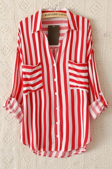 1d6b40b25a843 Red Striped Blouse