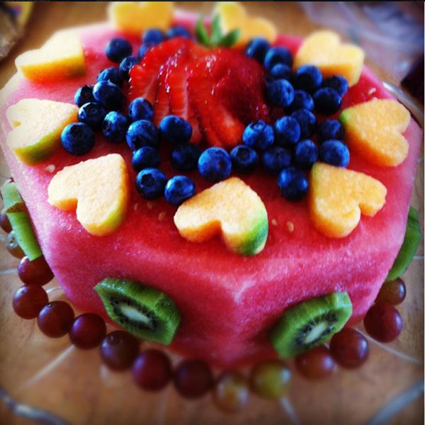 All Fruit Birthday Cake Perfect For A Diabetic