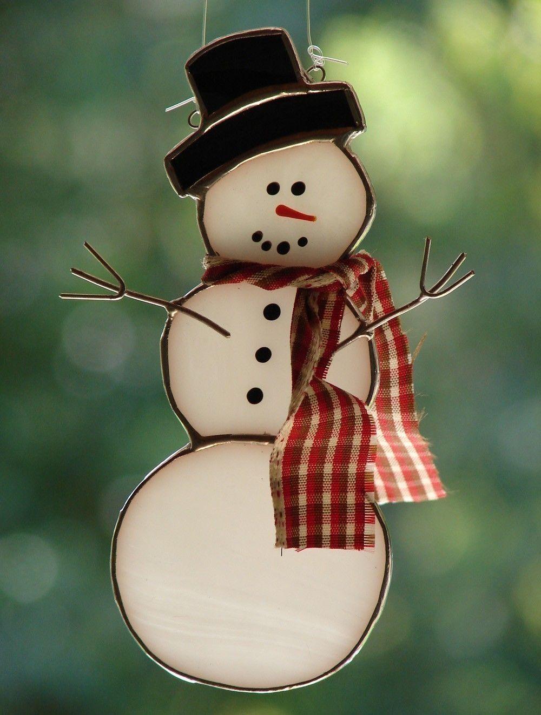 Stained Glass Snowman | Schneemann | Pinterest | Glas, Mosaik und ...