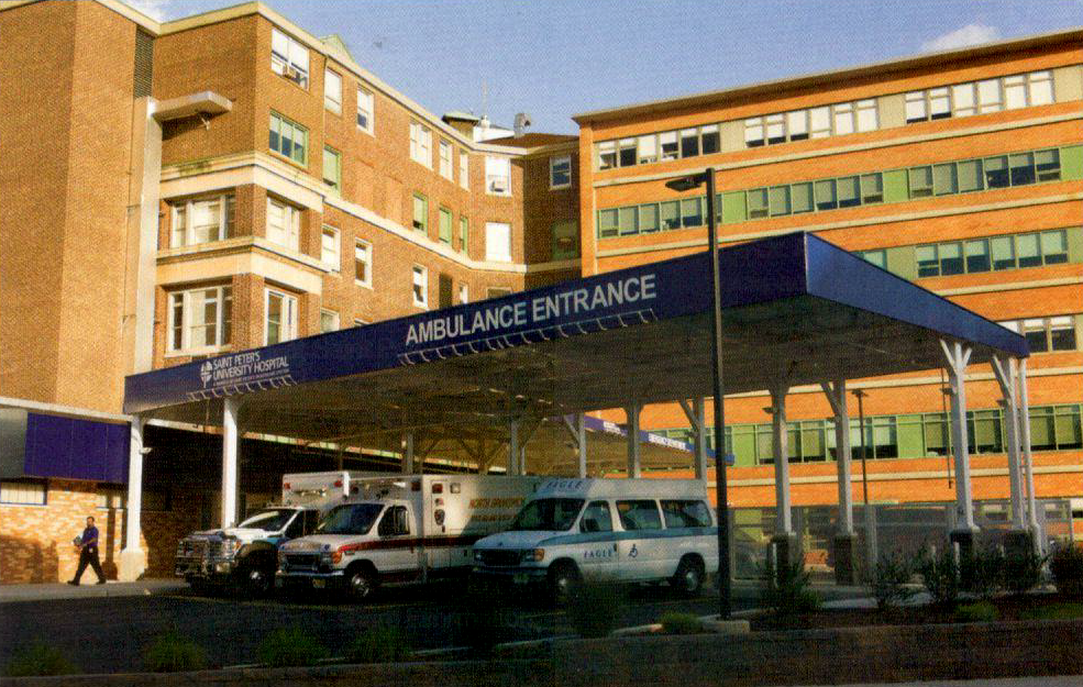 Hudson Awning Sign Fabricated And Installed A 20 High 134 Linear Feet Canopy At St Peter S University Hosp New Brunswick Installation Emergency Department