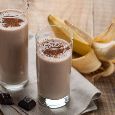 Indulgent Chocolate And Banana Smoothies