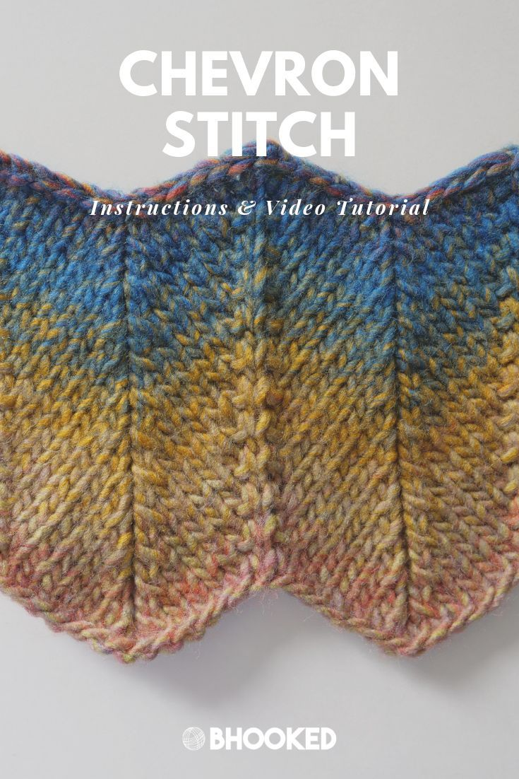 How to Knit Chevron Stitch – B.Hooked Crochet & Knitting