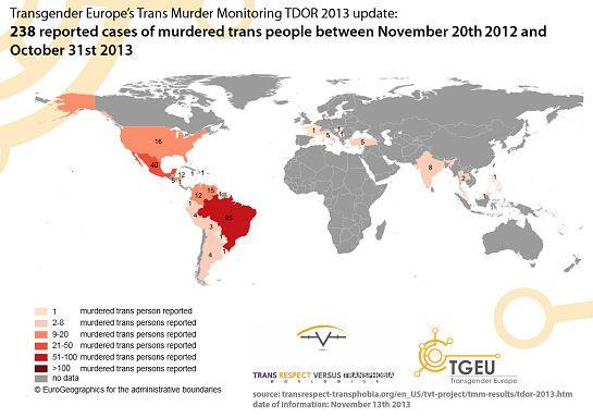 Image Transgender Murder Map TDOR Transgender Day of Remembrance