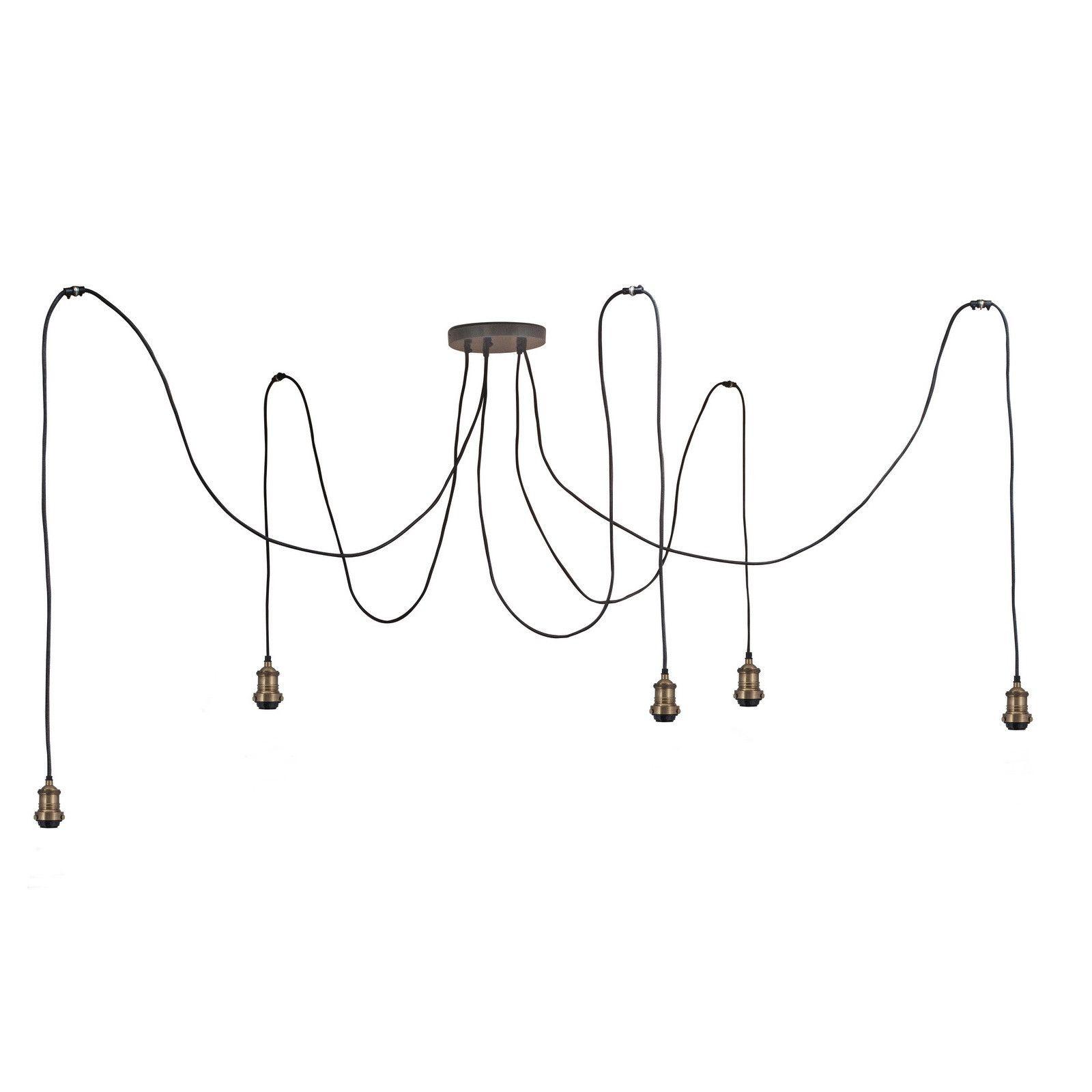 Brooklyn Vintage 5 Wire Pendant Light | Wire pendant, Pendant ...