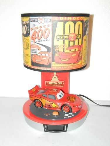 Disney Pixar Cars Talking Lightning Mcqueen Table Lamp