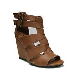 857196d4368 Tan Strappy Wedges   Cousin Couture