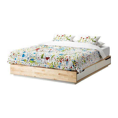 MANDAL Cadre Lit Avec Rangement IKEA Les Quatre Tiroirs Dans Le - Cadre de lit mandal