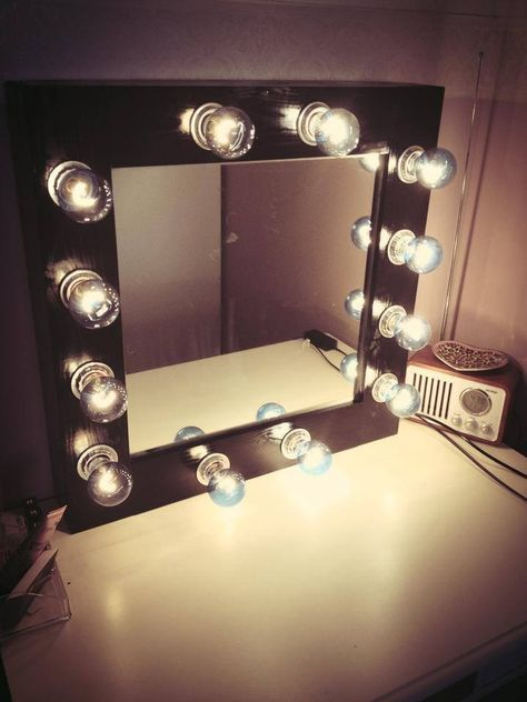 Diy make up mirror with lights crafty wood projects and lights hey guys heres a fun crafty weekend project for you if you want a professional makeup mirror like to diy and want to save yourself lots of cash solutioingenieria Images