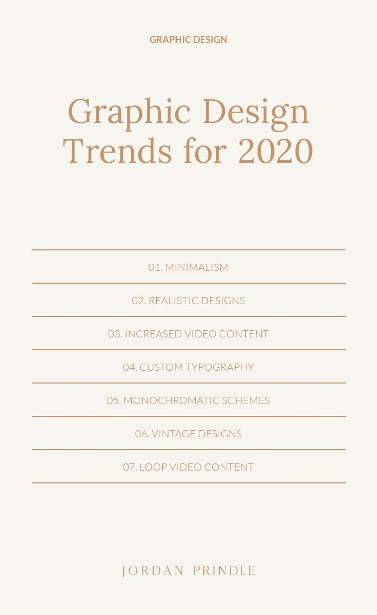 Graphic Design Trends For 2020 | As we enter a new decade, I want to share a few design predictions coming to brands and business owners. Learn more at www.jordanprindledesigns.com #graphicdesign #graphicdesigntips