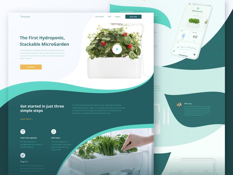 Website Design Experiment For Smart Home Garden In 2020 Website Design Experiments Smart Home