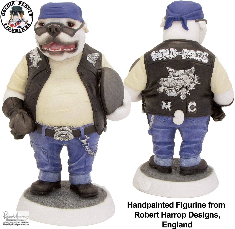 Bulldog Biker Doggie People Figurine Robert Harrop Designs