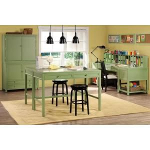 Rhododendron leaf craft space table room crafts spaces and dream martha stewart living rhododendron leaf craft space table 0463410600 at the home depot project room watchthetrailerfo