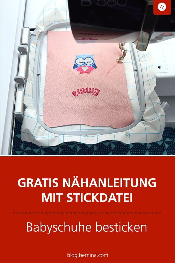 Photo of Freebook Lederpuschen mit der Toolbox besticken » BERNINA Blog