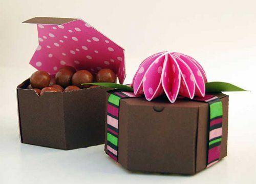 six sided paper craft box