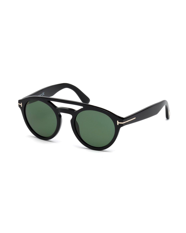 175d69c0eb Clint Round Acetate Sunglasses, Black. Clint Round Acetate Sunglasses,  Black Lentes, Tom Ford Gafas, Hombres ...