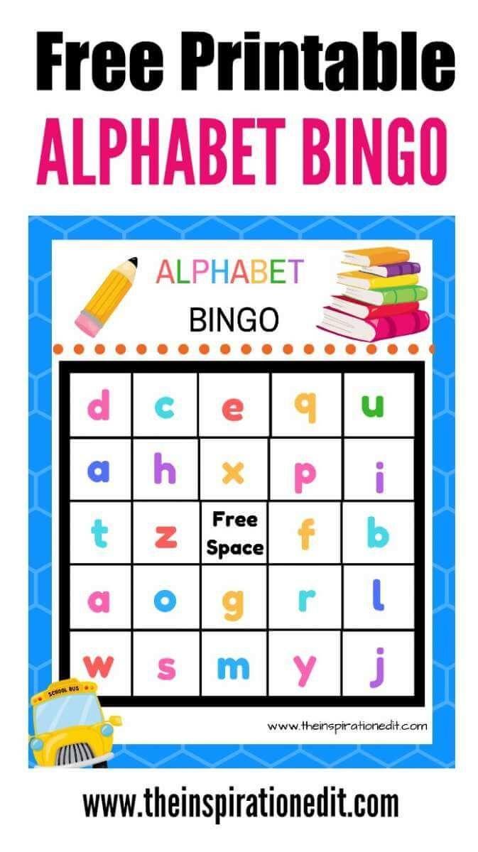 photo relating to Alphabet Bingo Printable named Free of charge Alphabet Bingo Printable For Little ones Do-it-yourself Preferred Cost-free