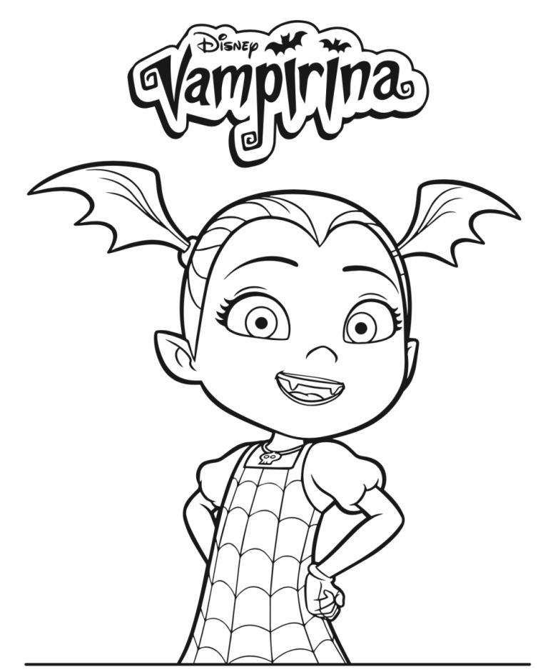10 Printable Disney Vampirina Coloring Pages Dibujos Para