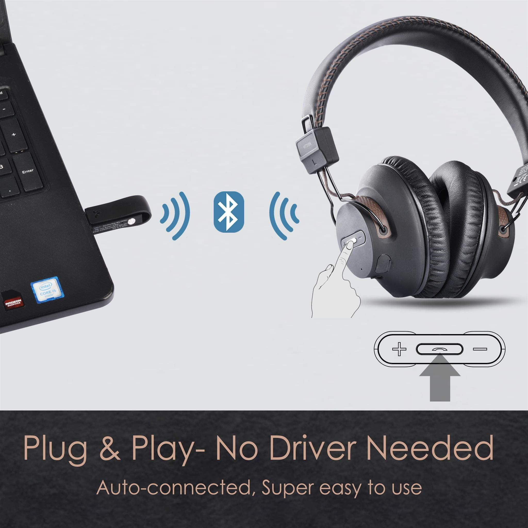 Avantree Dg59 Wireless Ps4 Gaming Headphones With Bluetooth Usb Audio Transmitter Set For Pc Nintendo Switch Des Gaming Headphones Headphones Desktop Computers
