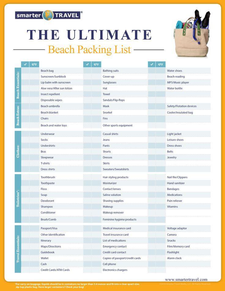 The Essential Beach Packing List ☆ TRAVEL - Everywhere