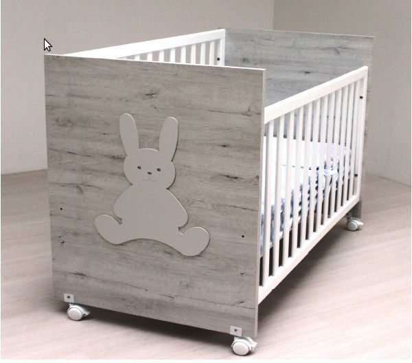 Cuna de bebe Blasi Bed Conejito gris claro [900 CONEJO G. CLARO ...