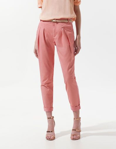 8ce725d2c9f51 lady like. ++ pleated trousers ++ zara | wish list | Cotton pants ...