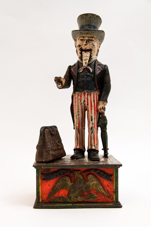 Antique Cast Iron Uncle Sam Mechanical