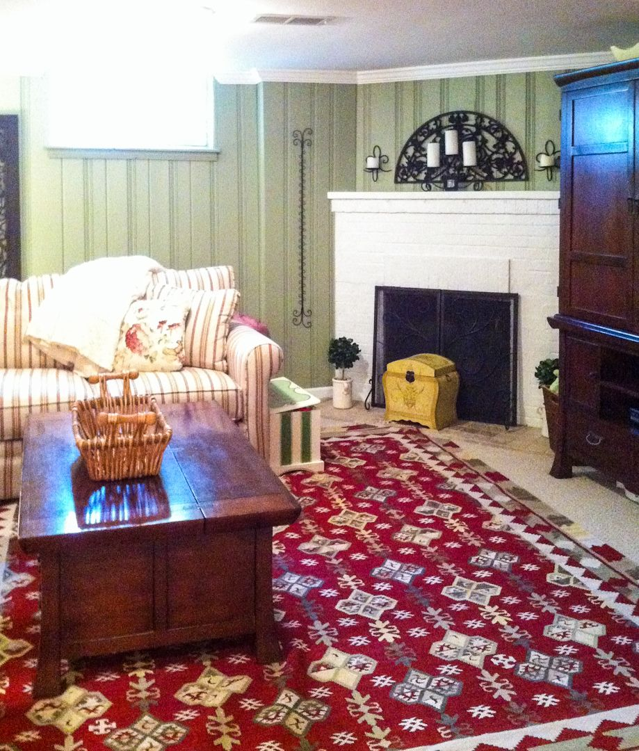 Painted Knotty Pine Paneling And White Crown Molding Makes