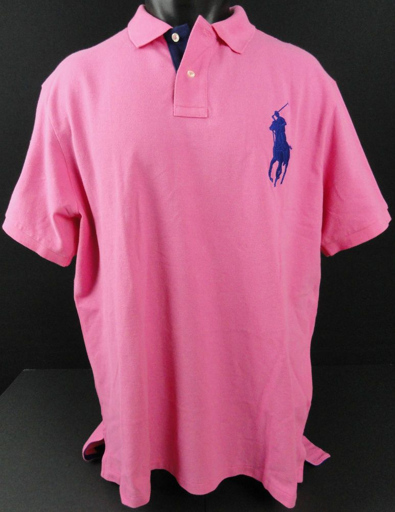 Ralph Lauren Men's Rosy Orange Big Pony Polo