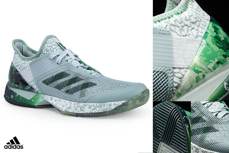 7da0ad182 Shop the new Adidas Adizero Ubersonic 3W Jade Womens Tennis Shoe at  MidwestSports.com. Lightweight fit and net mesh provides ventilation and  comfort while ...