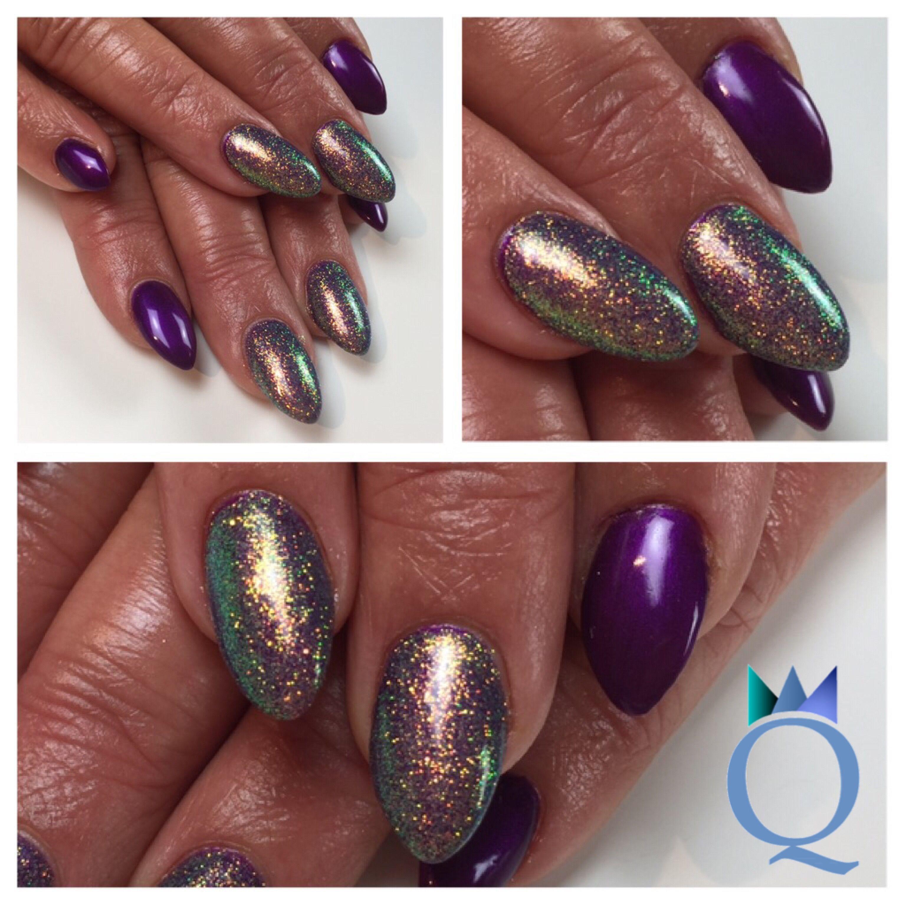 almondnails #almond #gelnails #nails #purple #mermaidpigment ...