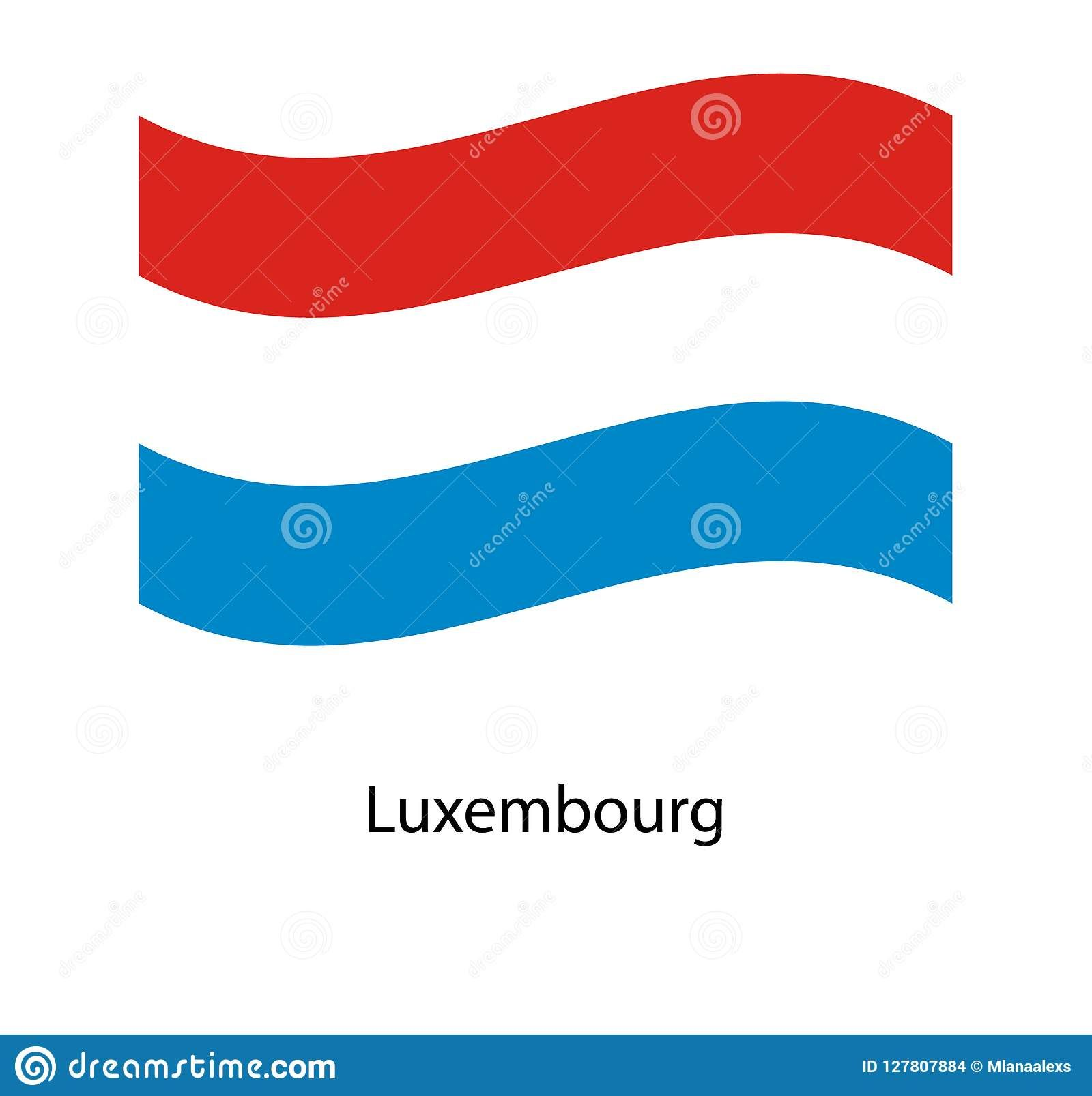 Luxembourg Flag Isolated National Flag Of Luxembourg Waving Flag Of The Grand Duchy Of Luxembourg Stock Vector Illustra Luxembourg Flag Flag National Flag