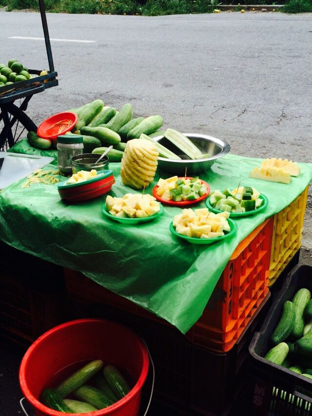 fruits on road