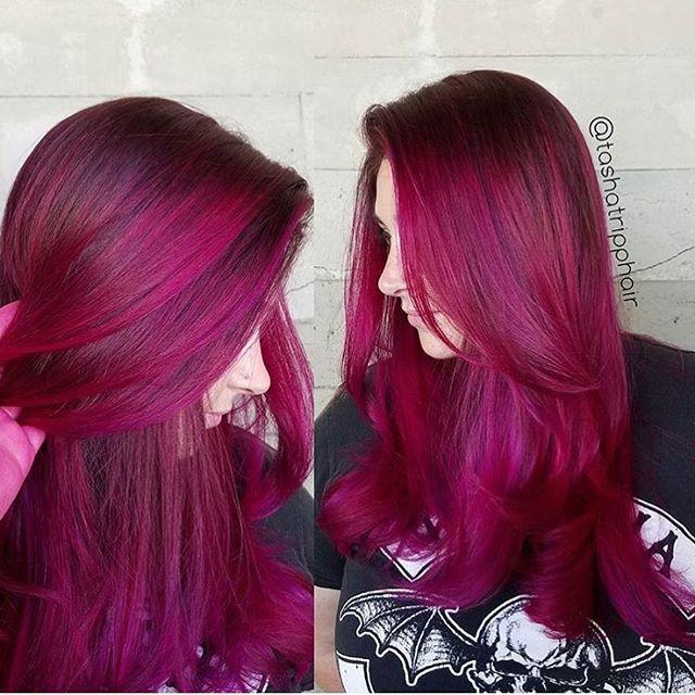 "Photo of Los Angeles Hair Salon en Instagram: ""Magenta Mermaid … por la estilista de Butterfly Loft Tasha @tashatripphair"""