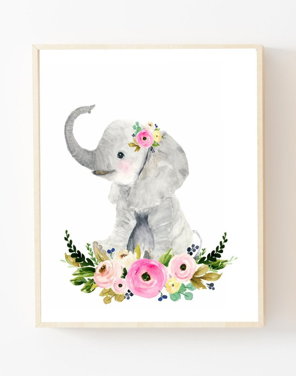Nursery prints elephant Nursery decor girl Baby elephant | Etsy
