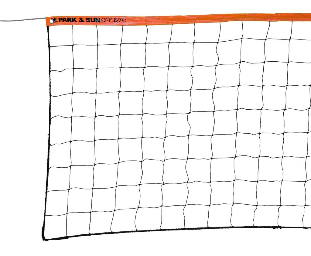 Park And Sun Sports Regulation Size Indoor Outdoor Recreational Volleyball Net With Steel Cable Top Orange Y Volleyball Net Volleyball Volleyball Knee Pads