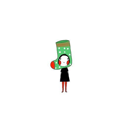 我想當只 聖誕襪是個 願望是個 希望是個 驚喜也是 喜悅活在 無憂世界裡當只快樂聖誕襪