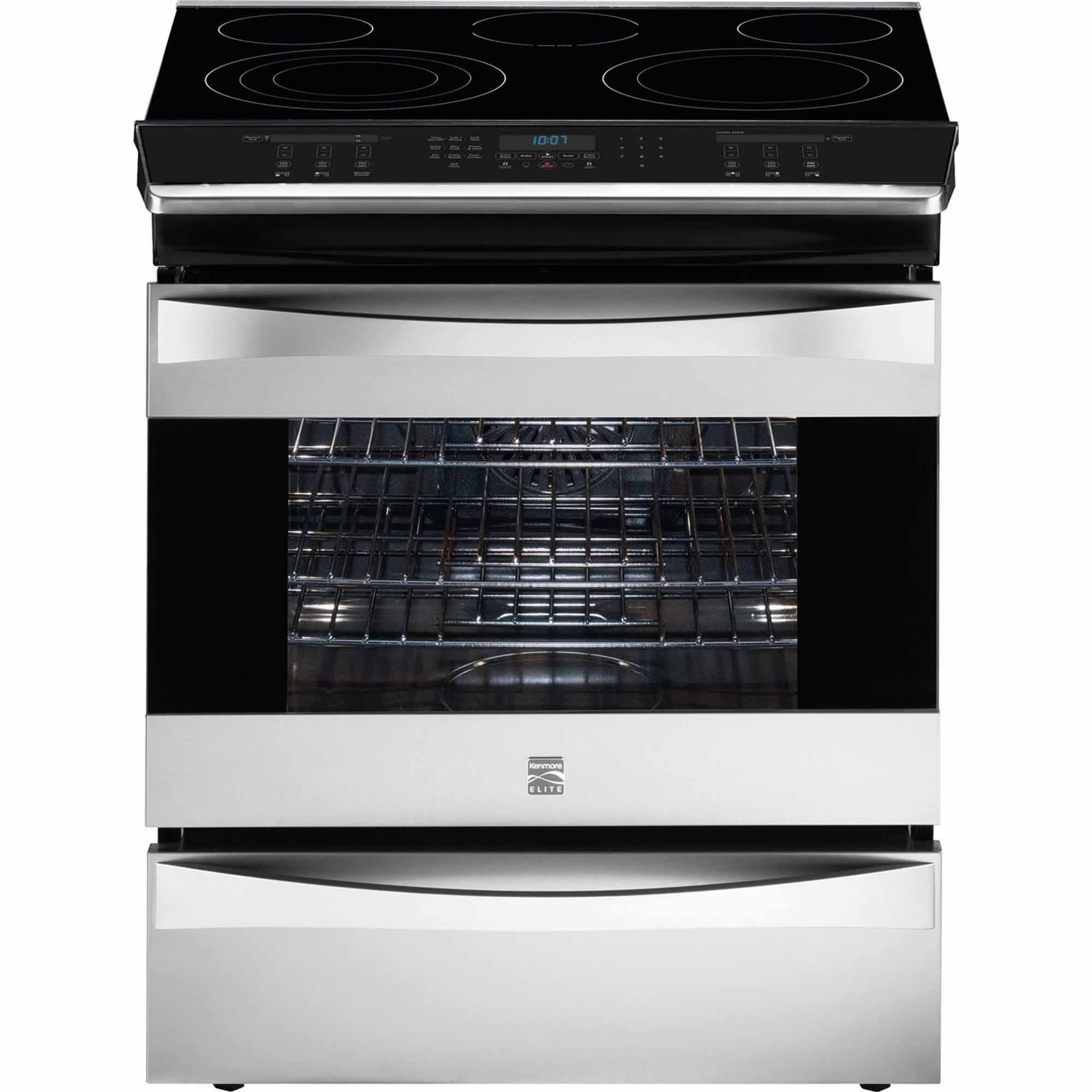 Kenmore Elite 42553 4 6 Cu Ft Slide In Electric Range W