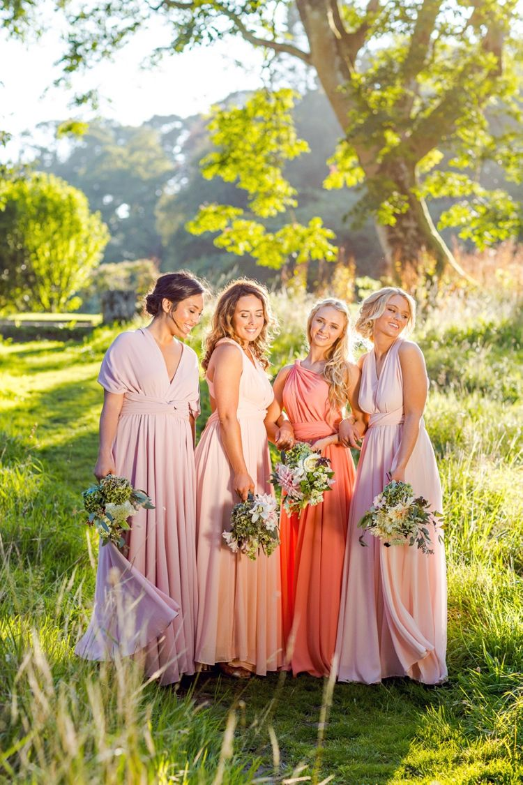 Pink multiway bridesmaid dress  Commercial photography of Lavalia multiway dresses by Marianne