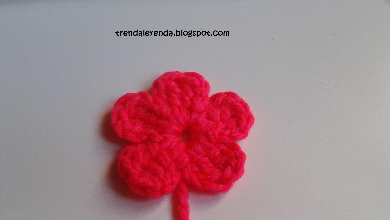 Flor fácil de crochet de 5 pétalos en 5 minutos | CROCHET ...